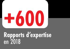 + de 600 rapports d'expertise